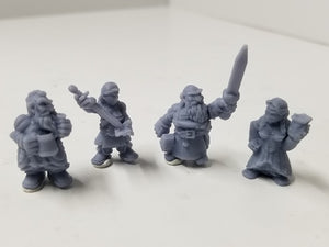 Dark Realms - Multi-Race Towns Folk - DR001 Series - Dwarves Set