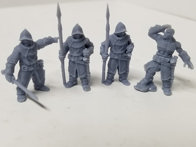 Dark Realms - Multi-Race Towns Folk - DR005 Series - Human Guards Set