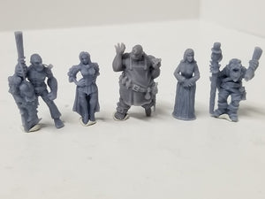 Dark Realms - Multi-Race Towns Folk - DR006 Series - Human Towns People Set
