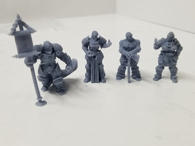 Dark Realms - Multi-Race Towns Folk - DR008 Series - Goliath & Warforged Set