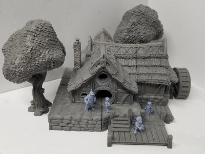 Dark Realms - Shirelands - DRHV002 - Halfling Village Watermill