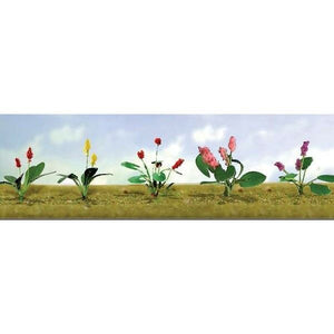 JTT Scenery Products 95562 - O Scale - Assorted Flower Plants #3 10/pk