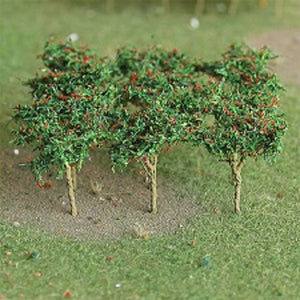 "MP Scenery Products 70108 - HO Scale - Apple Saplings 1-3/8"" Height, 10/pk"