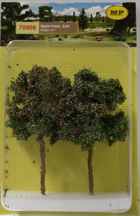 "MP Scenery Products 70908 - O scale - Apple Tree Grove 4-1/2"", 2/pk"