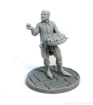 Tiny-Furniture - TF-F05 - Apple Seller - UNPAINTED