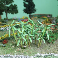 "MP Scenery Products 70119 - HO Scale - Banana Trees 1-1/2"" Height, 4/pk"