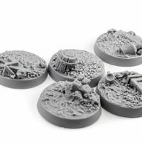 Tiny-Furniture #TF229-7 - Bases 25mm - Village road - UNPAINTED