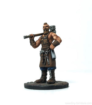 Tiny-Furniture - TF-F09 - Blacksmith - UNPAINTED