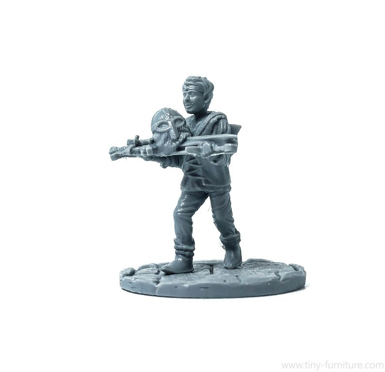 Tiny-Furniture - TF-F10 - Blacksmith Apprentice - UNPAINTED