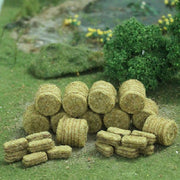 MP Scenery Products 70050 - HO Scale - Brown Hay Bales 30/pk 10 Rd. and 20 Rec.
