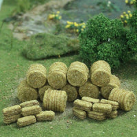 MP Scenery Products 75050 - N Scale - Brown Hay Bales 30/pk 10 Rd. and 20 Rec.