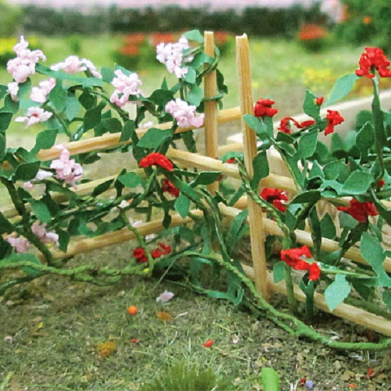 "MP Scenery Products 70015 - HO Scale - Climbing Roses 1-3/8"" Length, 6/pk"
