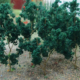 "MP Scenery Products 70021 - Dark Green Branches 1.5"" to 3"" height, (50/pk)"