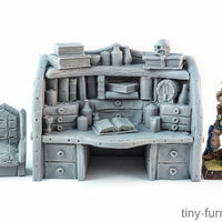 Tiny-Furniture #80 - Dark Magister Workplace- UNPAINTED