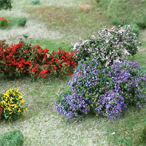 "MP Scenery Products 70002 - O Scale - Flower Bushes - 1"" to 1 1/2"" Height,10/pk"