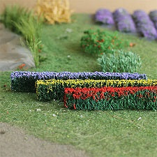 "MP Scenery Products 70029 - HO Scale - Flower Hedges 5"" x 3/8"" x 5/8"" H, 6/pk"