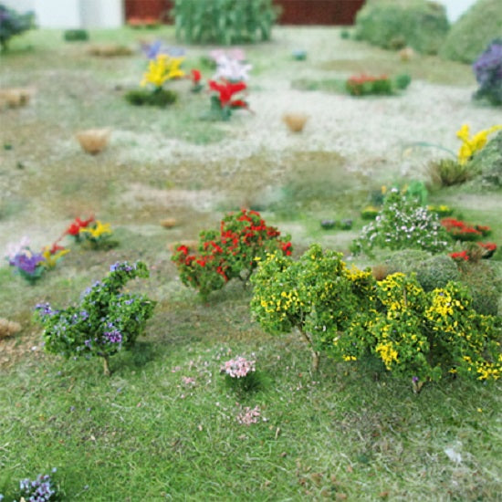 "MP Scenery Products 70004 - O Scale - Flower Trees - 1-1/2"" to 2"" Height 8/pk"