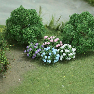 "MP Scenery Products 70044 - O Scale - Hydrangea 1"" Height, 8/pk"