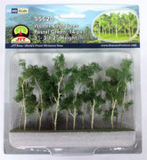 "JTT Scenery Products 95620 - HO Scale - Woods Edge Trees Green 3"" - 3.5"" 14/pk"