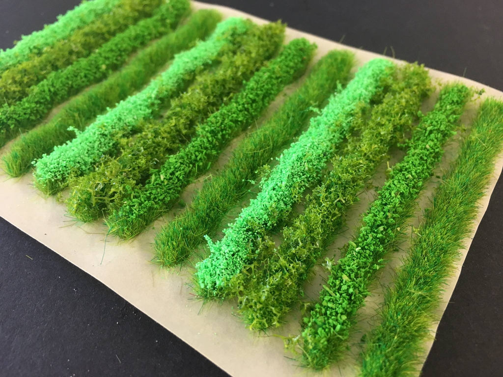 Serious-Play - Light Green Flower Bush & Hedge Strip Static Grass Tufts