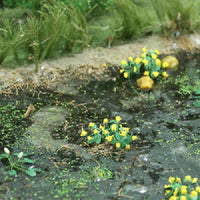 "MP Scenery Products 70046 - O Scale - Marsh Marigold 5/8"" Height, 14/pk"