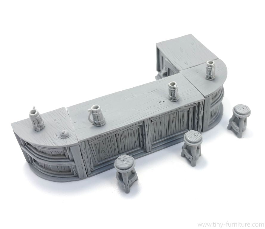 Tiny-Furniture #124-1 - Medieval Bar - UNPAINTED