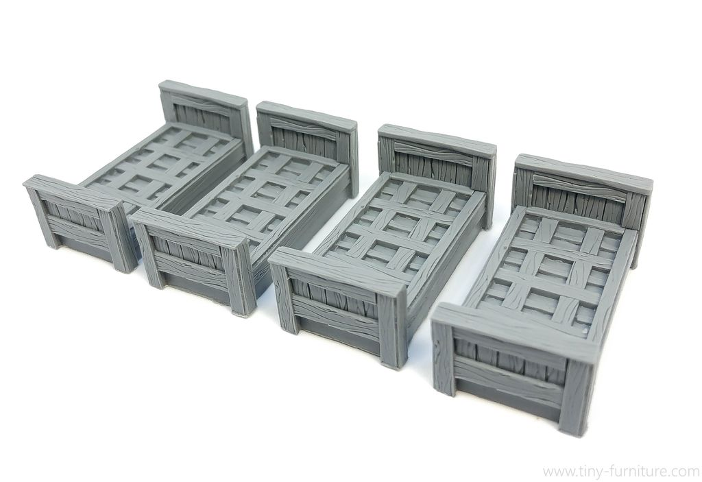 Tiny-Furniture #128-2 - Medieval Prison Beds - UNPAINTED