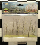 "JTT Scenery Products 95629 - HO Scale - Bare Woods Edge Trees 3"" - 3.5"" 14/pk"