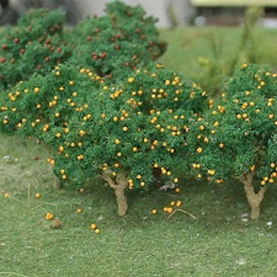 "MP Scenery Products 70901 - HO Scale - Orange Tree Grove 2"" to 2-1/2"", 6/pk"