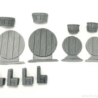 Tiny-Furniture #98 - Round Tables - UNPAINTED