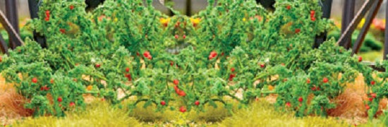 JTT Scenery Products 95526 - O Scale - Tomato Plants 12/pk