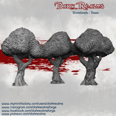 Dark Realms - Shirelands - DRHV101 - Halfling Village Trees