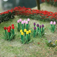 "MP Scenery Products 70009 - HO Scale - Tulips 1/2"" Height, 44/pk"