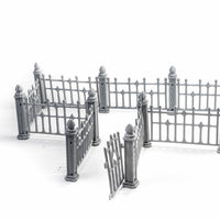Tiny-Furniture #215 - Wrought Iron Fence - UNPAINTED