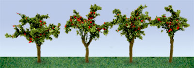 JTT Scenery Products 95517 - HO Scale - Apple Saplings 1-3/8