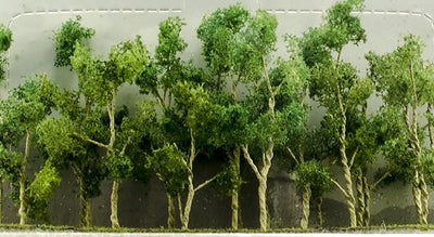JTT Scenery Products 95619 - N Scale - Woods Edge Trees Green 2