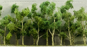 "JTT Scenery Products 95619 - N Scale - Woods Edge Trees Green 2"" - 2.5"" 20/pk"