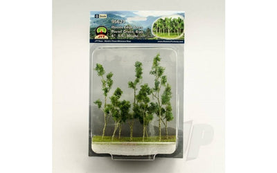 JTT Scenery Products 95621 - O Scale - Woods Edge Trees Green 4