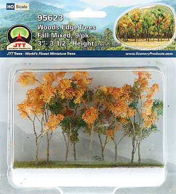 JTT Scenery Products 95623 - HO Scale - Fall Woods Edge Trees 3