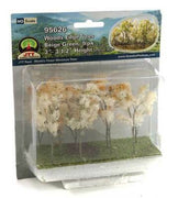 "JTT Scenery Products 95626 -HO Scale - Beige Woods Edge Trees 3"" - 3.5""  9/pk"