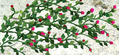 "JTT Scenery Products 95539 - HO Scale - Rose Vines 1-3/8"" 6/pk"