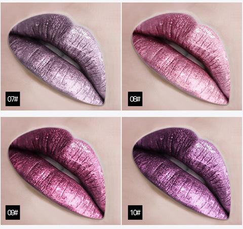 Metallic Glitter Shine Liquid Lipstick / 18 Colors