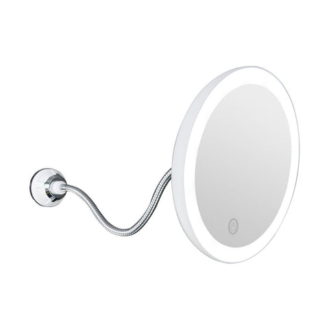 10x Magnifying Led Lighted Makeup Mirror Fonsany White