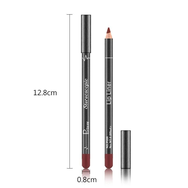 12 Color Matte Nude Professional Lip Liner Fonsany Colour