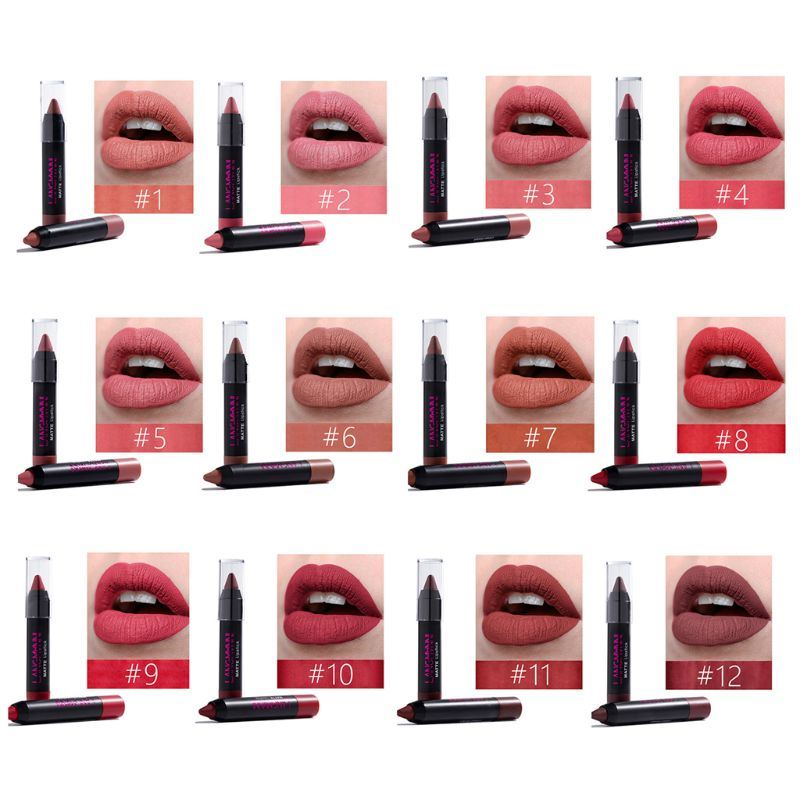 12-Piece Premium Limited Edition Lipstick Set Fonsany Colour