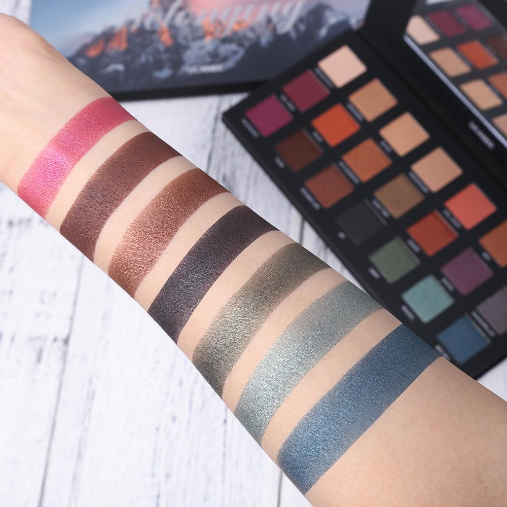 21 Color Shimmer Metallic Smoky Palette Fonsany Colour