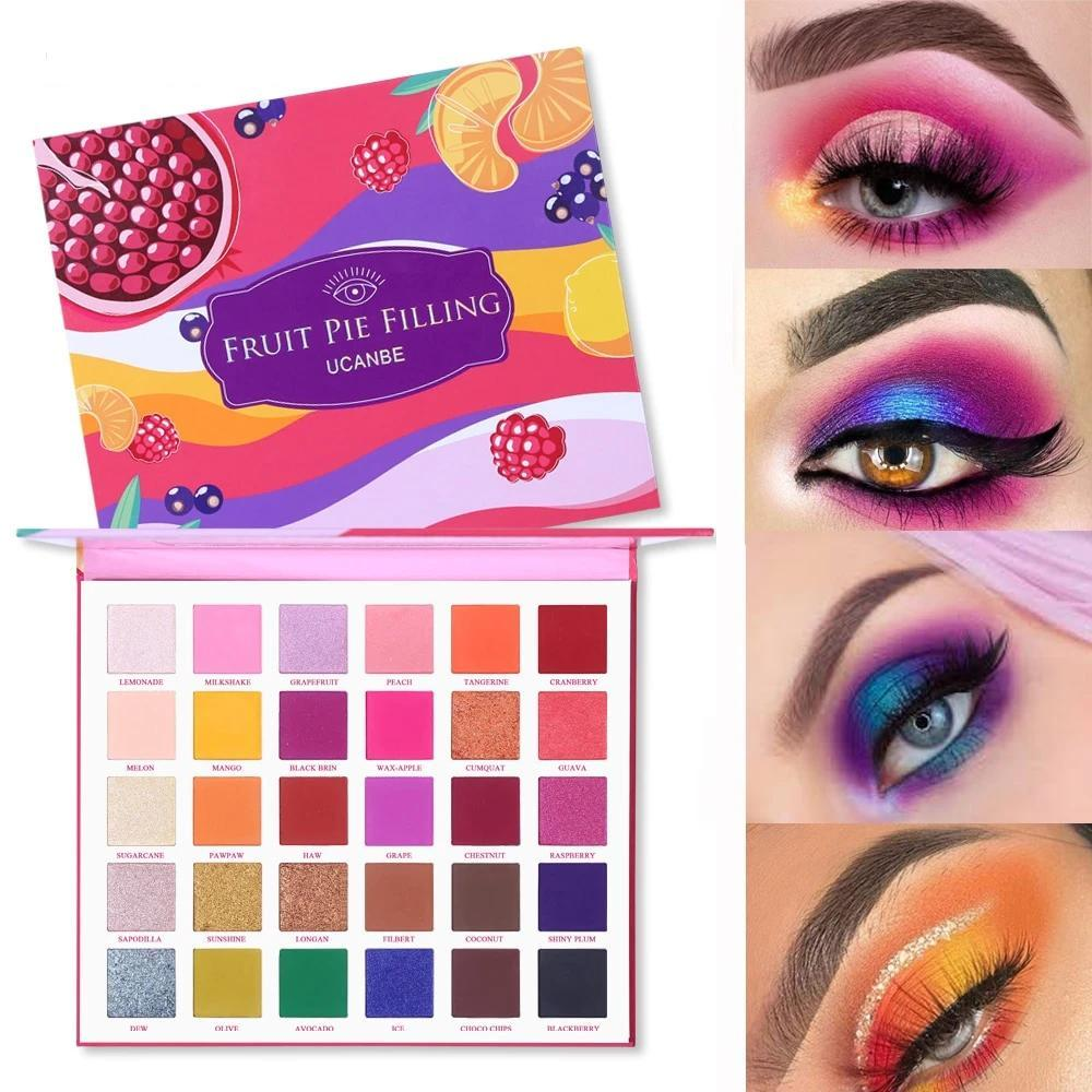 30 Colors Fruit Pie Filling Eye Shadow Palette Fonsany