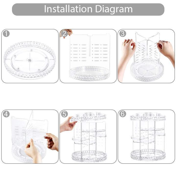 50% OFF Only 3 days Limited Time Offer——360° rotating Crystal Cosmetic storage box Fonsany