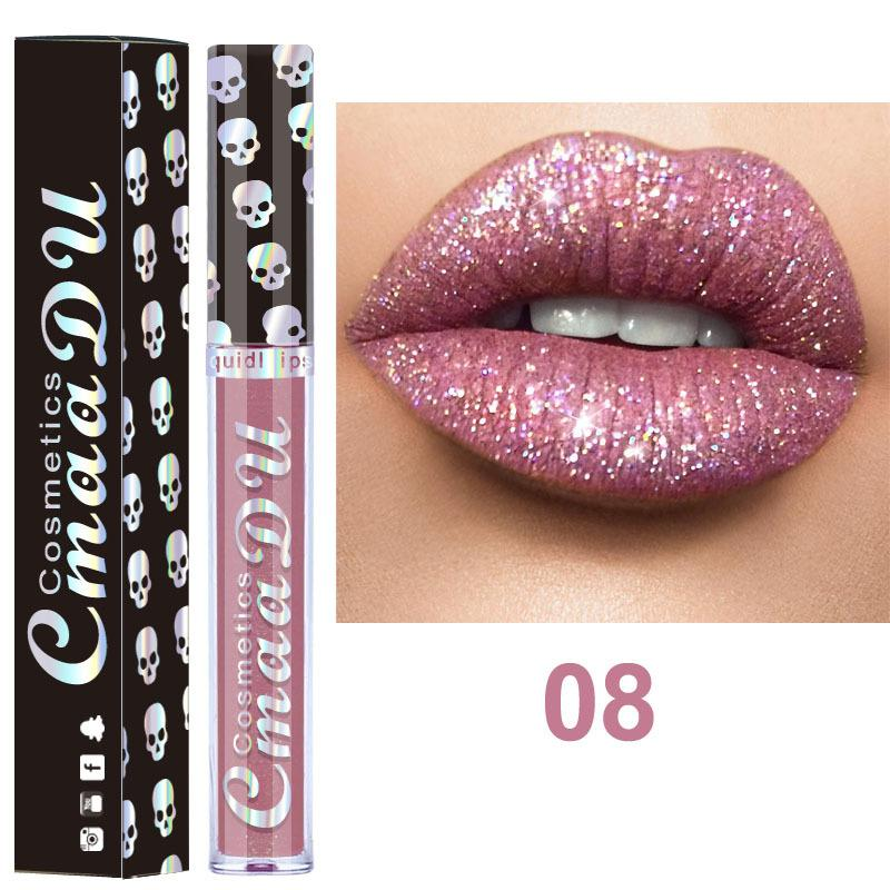 8pcs/lot Diamond Shining Metallic Lip Gloss Fonsany