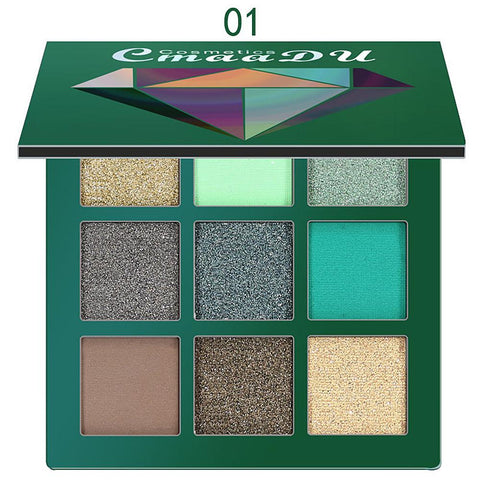 9 Color Glitter Matte Eye Shadow Palette Fonsany 01 Add 3 pcs to the cart get 1 free